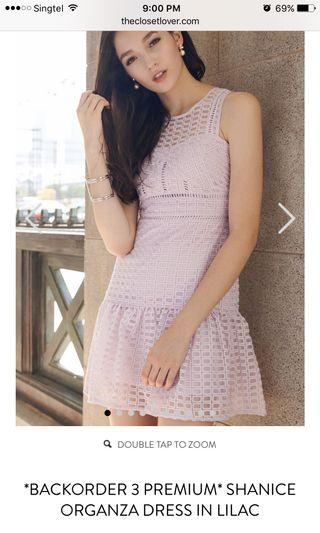 TCL BNWT Shanice Oganza Dress in Lilac
