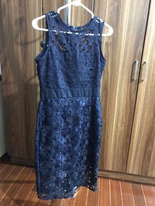 Cocktail navy lace dress