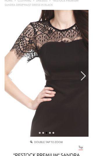 TCL BNWT Sandra Dropwaist Dress in black