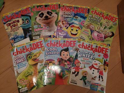 7 ChickaDee Canadian Magazines for kids 6-9 years old