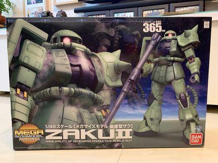 Mega Size Model Zaku II (1/48) 高達模型