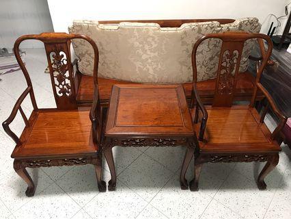 Rosewood Grape Motif Design Chair set