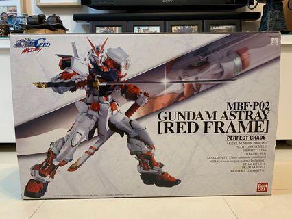mbf-p02 gundam astray red frame perfect grade 高達模型
