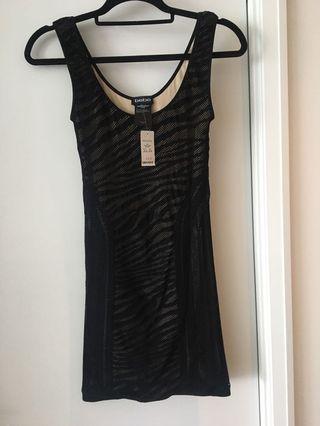 Bebe dress black size small