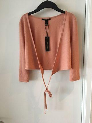Crop wrap top size small