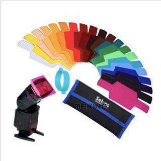 Selens 20 Color Gels for Flash