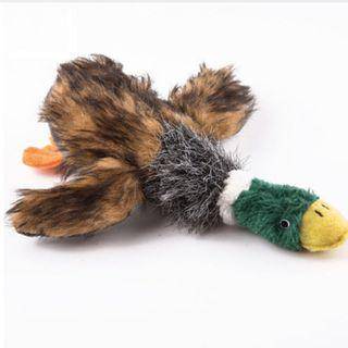 Dog Chew Toy Squeaky Plush Duck