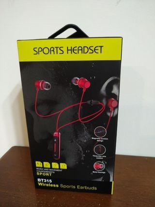 ANMONE BT315 Bluetooth Earphone in-ear Wireless Earphones with mic Bass Sport Magnetic Earpiece in Ear Earbuds for Mobile Phones