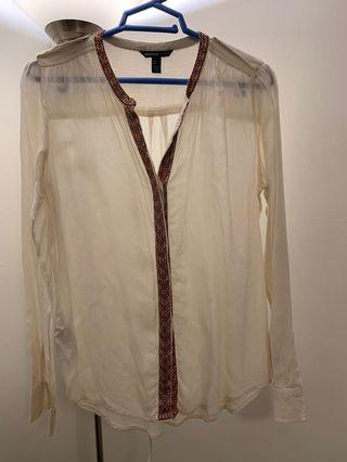 Cream coloured Blouse from Mango