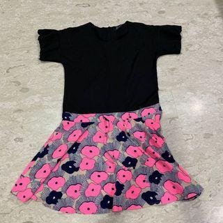 Pink Black Dress