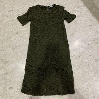 H&M Green Lace Dress