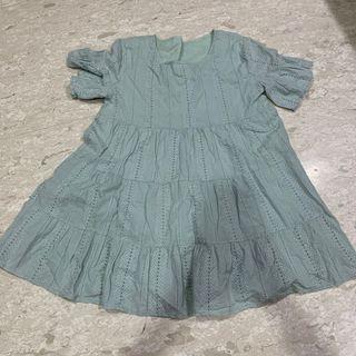 Lovet Babydoll Sage Green Dress