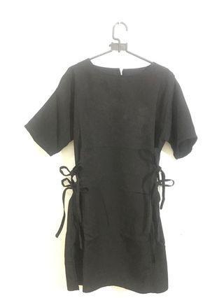 Mididress black hitam