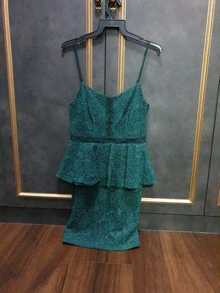 Fayth green lace dress