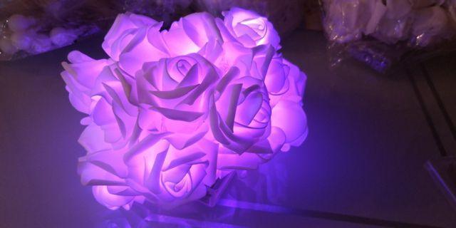 裝飾 浪漫 玫瑰花 燈飾 紫色燈 20朵