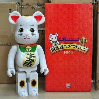 🚚 Bearbrick White MANEKINEKO