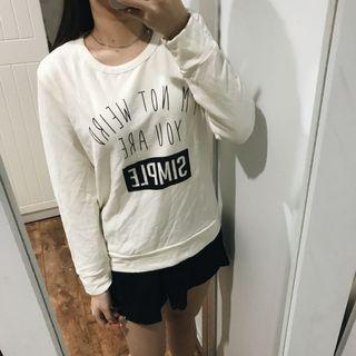 White Text Sweater