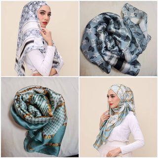 Satin silk  wide shawl
