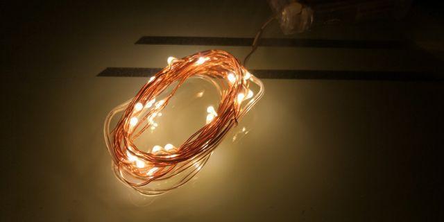 3米30燈 小粒燈 暖黃白色