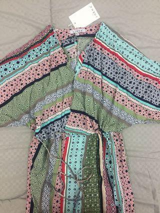 Lubna drawstring wrap dress