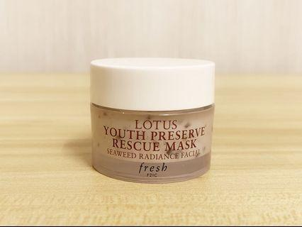 🚚 Fresh Lotus Youth Preserve Rescue Mask 15ml