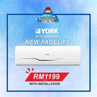 1HP York Aircond New model New Facelift