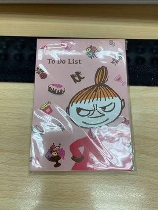 日本正版亞美 little my 小不點  TO DO LIST memo紙