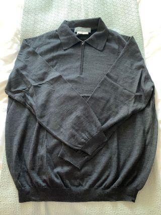 Salvatore Ferragamo Wool sweater top, made in Italy, Men's L
