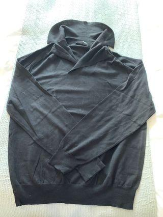 Z Zegna sweater top with collar, Size M