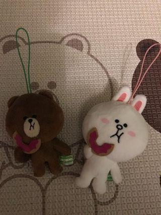 Line Friends冬甩熊大兔兔