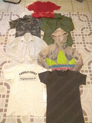 Adidas Uniqlo neighborhood camo Polo and tshirt