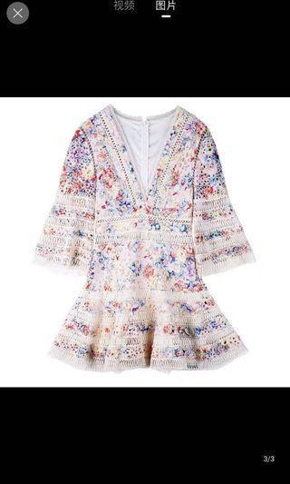 Zimmermann style lovelorn flutter dress