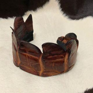 Real crocodile bracelet / bangle