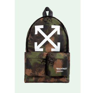 Off White 19FW Camo Quote Backpack