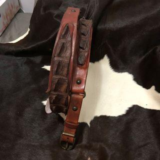 "Real crocodile belt 35-40"" waist"