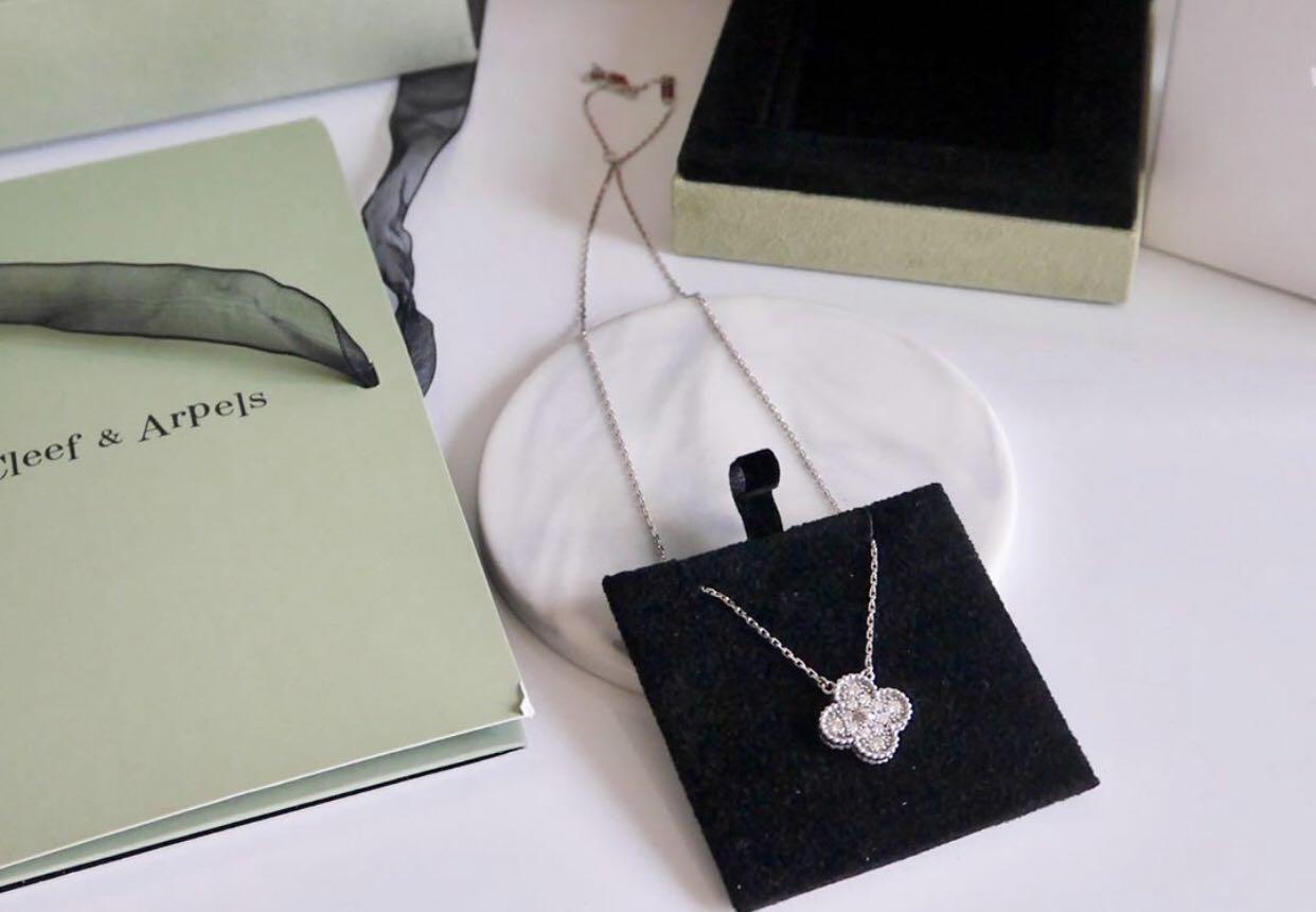 原價59800 van cleef & arpel vintage 鑽石💎四葉草 99 新
