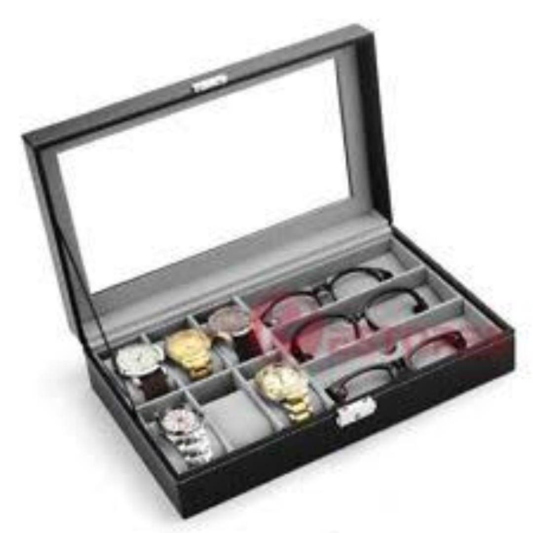 9 pcs Leather Watch/Sunglass case
