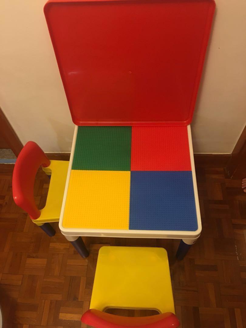 三合一積木桌椅組