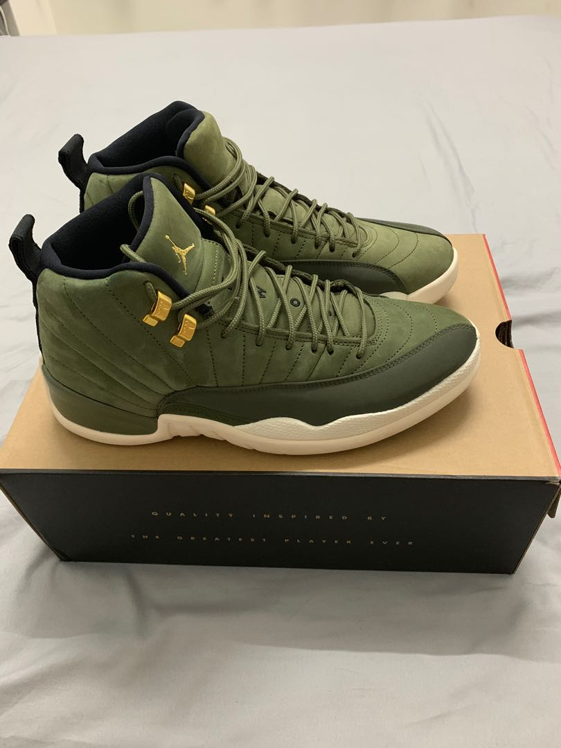 "outlet store 26c65 f4bad Air Jordan 12 Retro ""CP3 Olive canvas"""