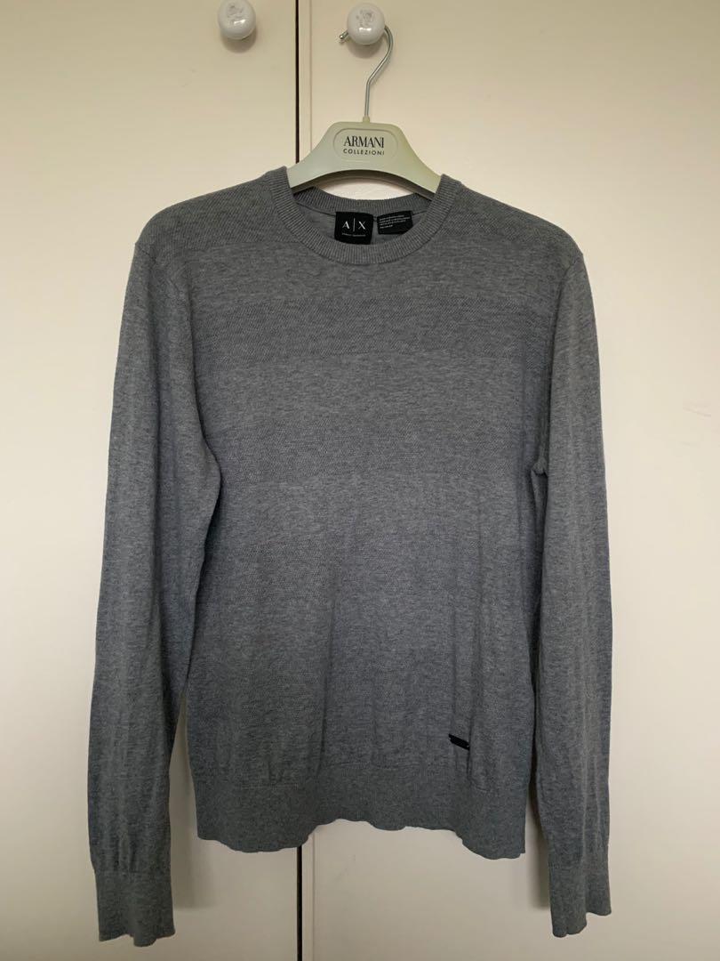 ARMANI EXCHANGE Sweater Jumper - Grey - Size XS