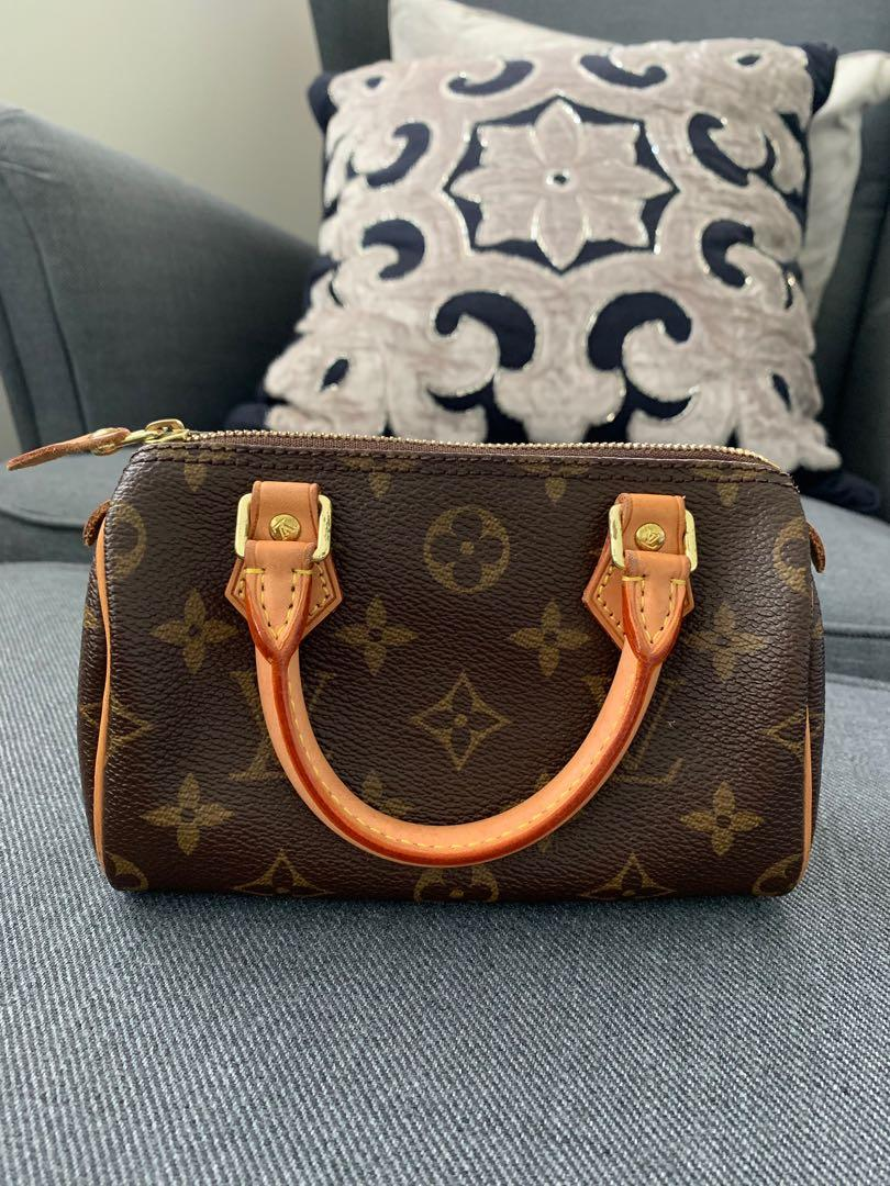 Authentic Louis Vuitton Mini HL (Nano Speedy without the fixed strap)