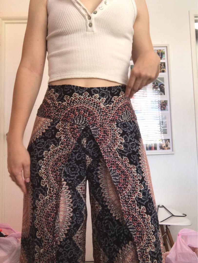 Bohemian Flowy Pants
