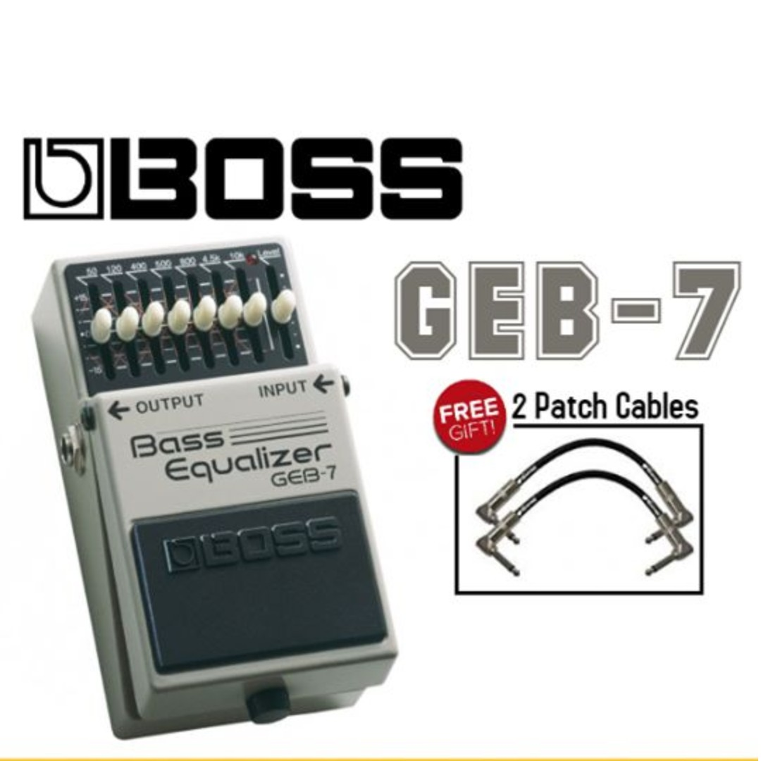 Boss GEB-7 Bass Equalizer Pedal, Music & Media, Music