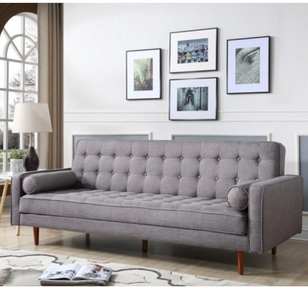 Brand New 3 Seater Faric Sofa Bed ( GREY/GREEN/DARK GREY/BEIGH)