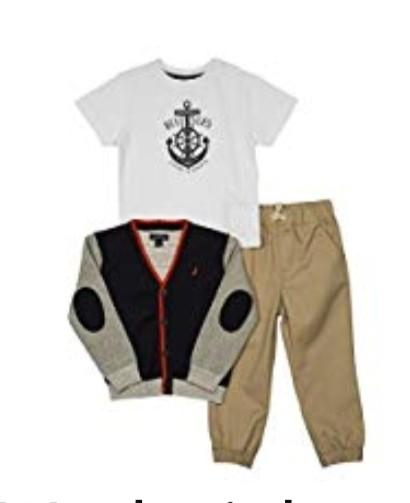 Brand New Boys Nautica Kids 3 Piece Outfit Size 12 months