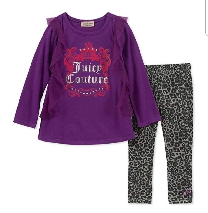 Brand New Juicy Couture Baby Girls 2 piece Tunic/Legging set Size 12months