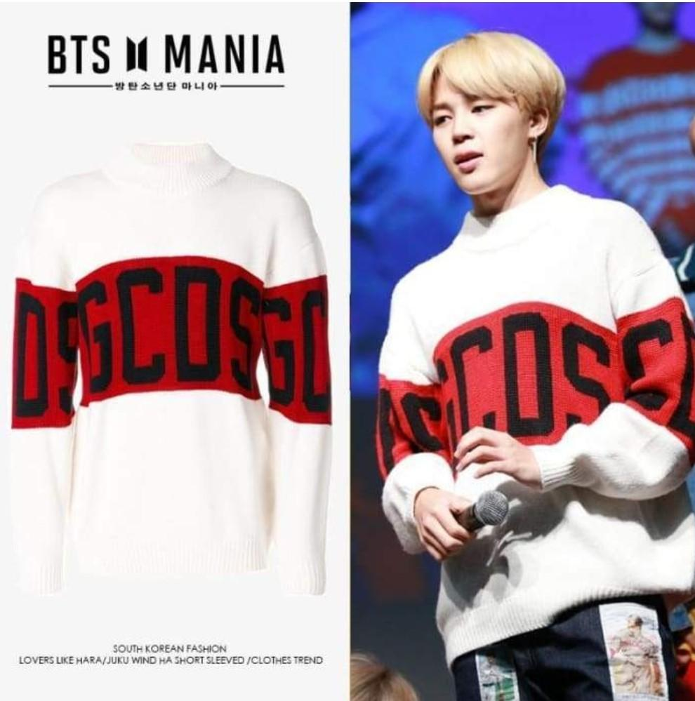 Bts jimin GCDS pullover sweater knitted cardigan shirt DNA