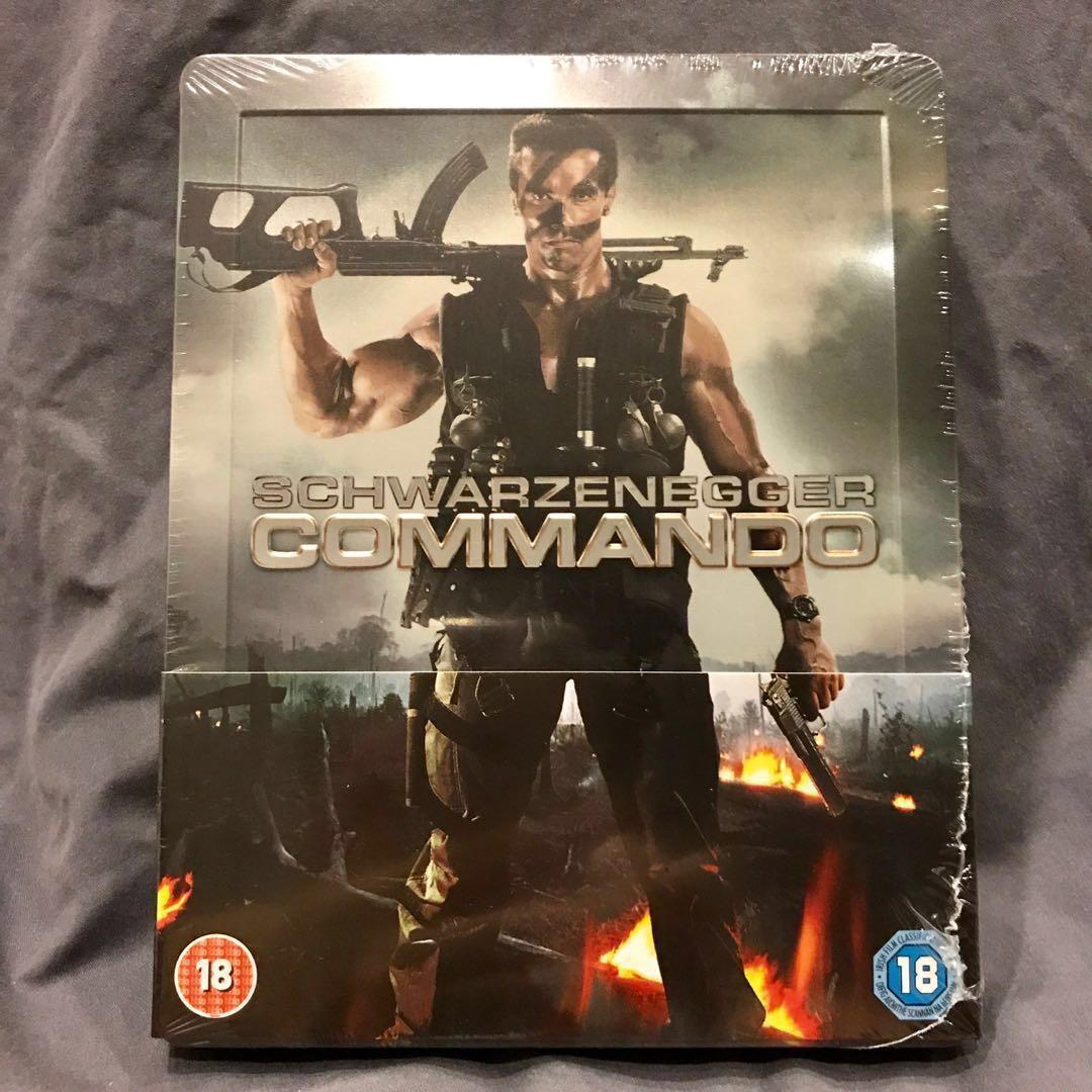 COMMANDO Steelbook UK Blu-ray Zavvi Exclusive Brand New Sealed Mint OOP/OOS Bluray US43