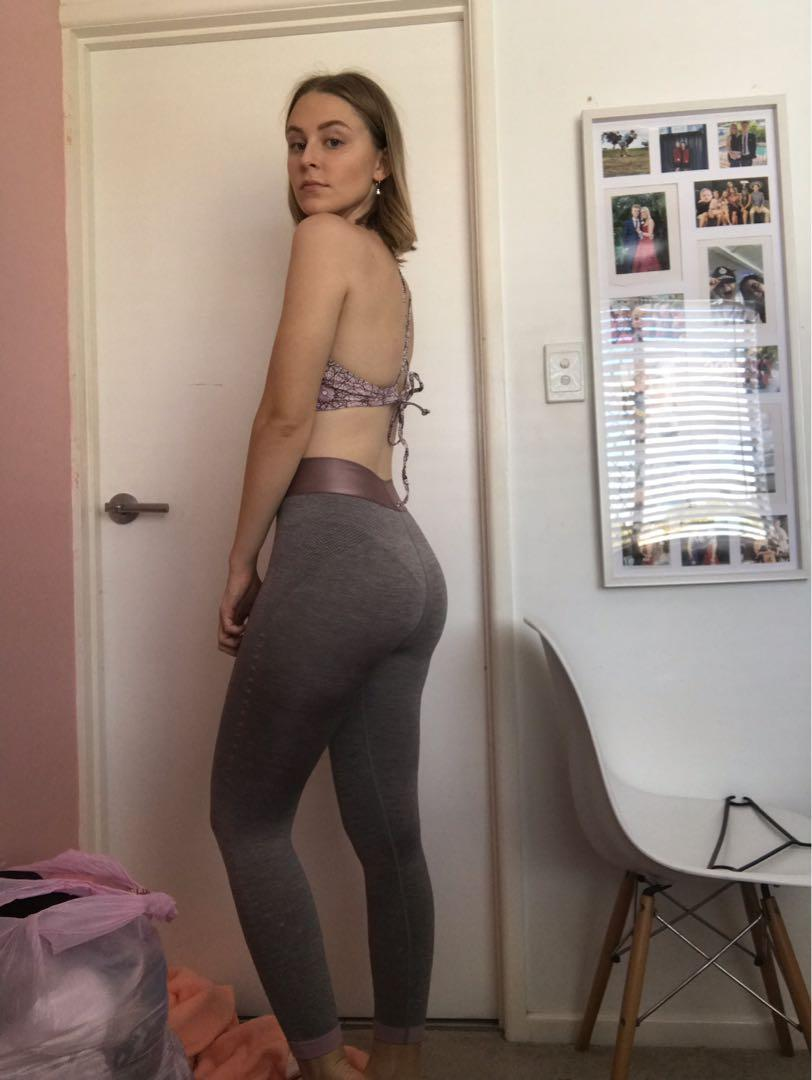 Cotton on grey and pink leggings