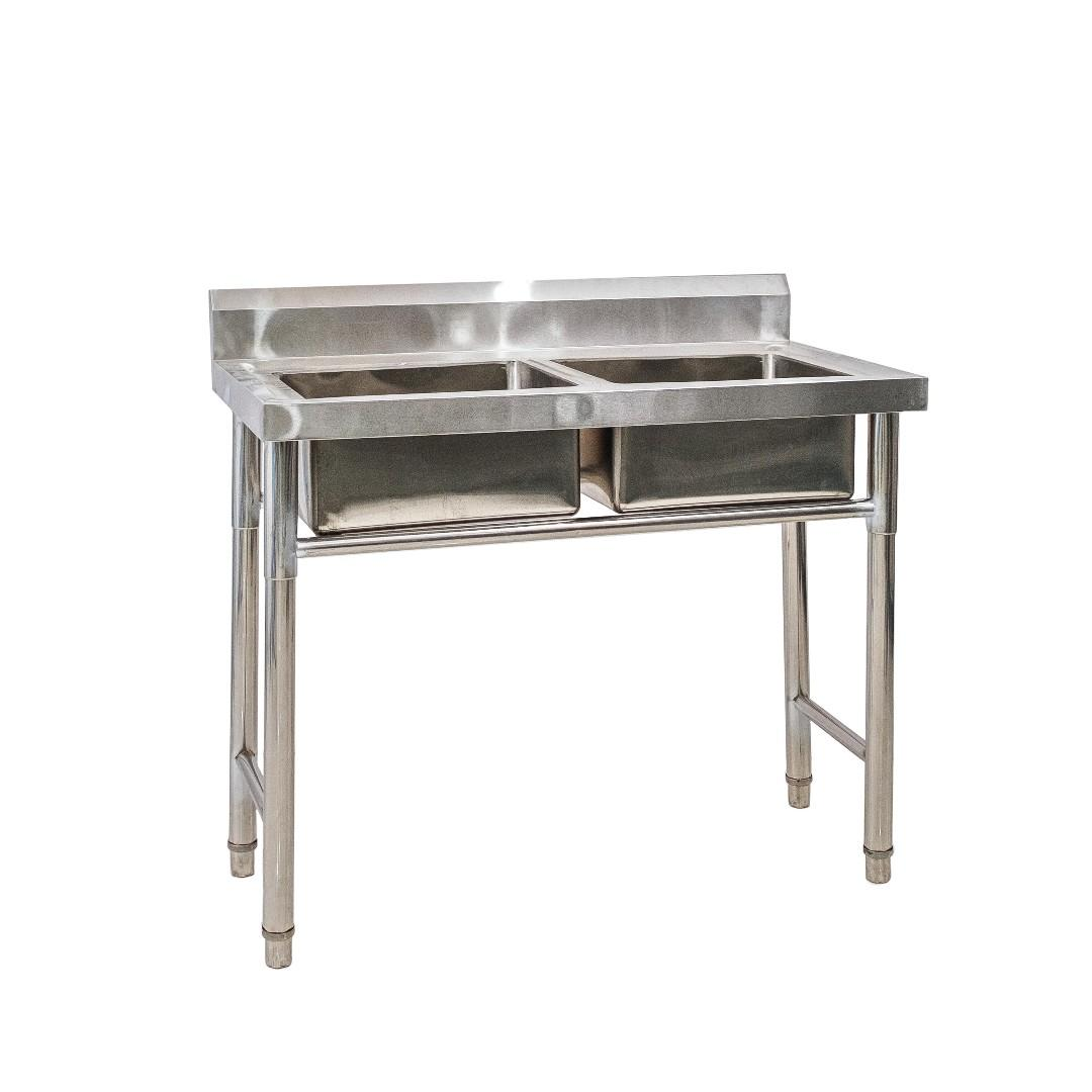Double-Basin Commercial Kitchen Sink